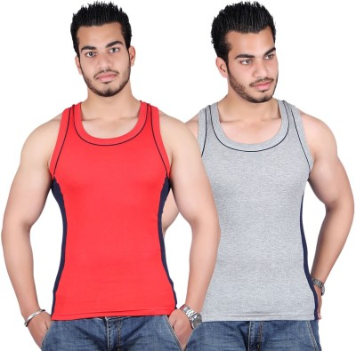 White Moon Mens Vest(Pack of 2)