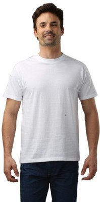 Force Nxt Solid Men's Round Neck White T-Shirt