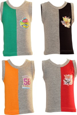 Lilsugar Vest For Baby Boys(Multicolor, Sleeveless)