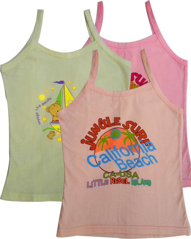 Lure Wear Vest For Baby Girls Cotton(Multicolor)