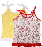 Knotty Kids Vest For Baby Girls Cotton (...
