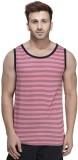 Rigo Striped Men's Scoop Neck Red T-Shir...