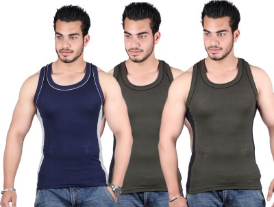 White Moon Mens Vest(Pack of 3)