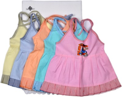 Sathiyas Vest For Baby Girls(Multicolor, Sleeveless)