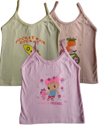 Lure Wear Vest For Baby Girls(Multicolor, Sleeveless)