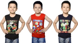 Bodysense Vest For Boys Cotton(Multicolor, Pack of 3)