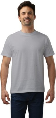 Force Nxt Solid Men's Round Neck Grey T-Shirt