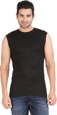 Zippy Striped Men's Round Neck Black T-Shirt