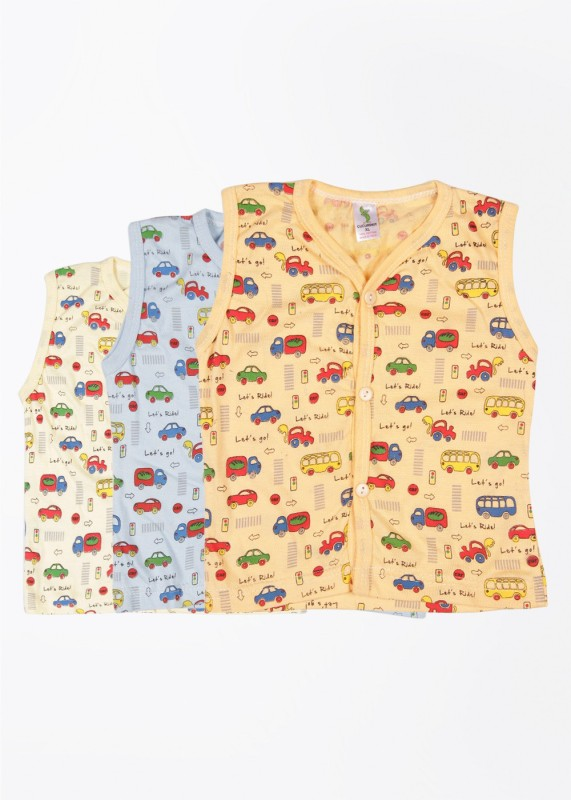 Cucumber Vest For Baby Boys Cotton(Multicolor)