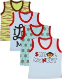 Myfaa Vest For Baby Boys Cotton (Multico...