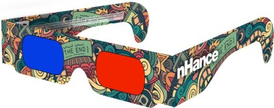 DOMO nHance RB3B Paper Anaglyph 3D Video Glasses - Pack of 4 Video Glasses