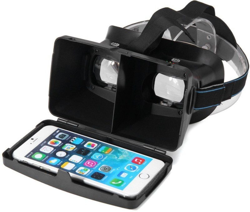 Mobilegear Virtual Reality 3D Glasses Card Board With Lens & Focus Adjustment & Magnetic Switch for 3.5 to 6 inch Mobiles(Smart Glasses)