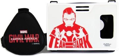 AuraVR Official Marvel Civil War (Iron Man), Team Stark Virtual Reality Viewer (VR Headset) Video Glasses
