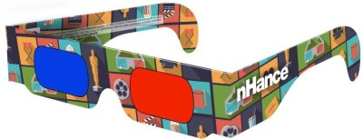 DOMO nHance RB1B Paper Anaglyph 3D Video Glasses - Pack of 4 Video Glasses