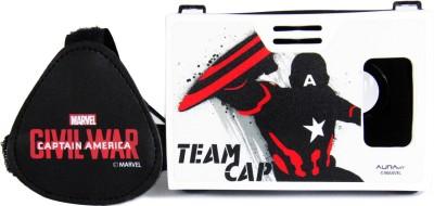 AuraVR Official Marvel Civil War (Captain America), Team Cap Virtual Reality Viewer (VR Headset) Video Glasses