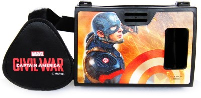 AuraVR Official Marvel Civil War Captian America With Shield Virtual Reality Viewer (VR Headset) Video Glasses