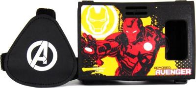 AuraVR Official Marvel Avengers (Iron Man) Golden Avenger Virtual Reality Viewer (VR Headset) Video Glasses