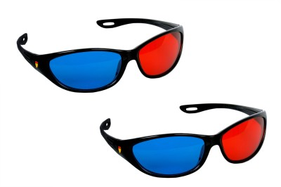 SMR 3D Real- Red and Blue Lens ( Pack Of 2 ) Video Glasses