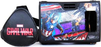 AuraVR Official Marvel Civil War Team Captain America Virtual Reality Viewer (VR Headset) Video Glasses
