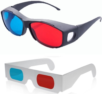 Hrinkar Updated Version 1 Plastic + 1 Paper Video Glasses