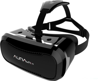 AuraVR Pro VR Headset/Virtual Reality Gear comes with 42mm lenses Video Glasses(Black)