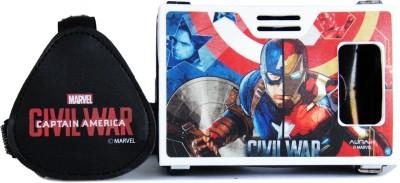 AuraVR Official Marvel Civil War (Captain America/Iron Man) Super Soldier Vs Shellhead Virtual Reality Viewer (VR Headset) Video Glasses