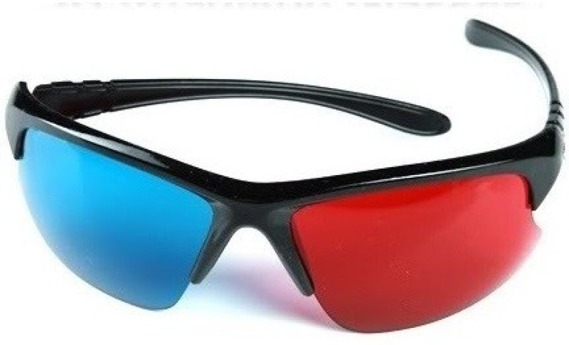 3DS Sports Frame anaglyph Red Blue 3D Glasses Video Glasses