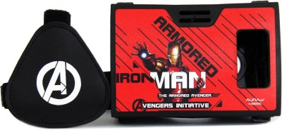AuraVR Official Marvel Avengers (Iron Man) Avenger For Justice Virtual Reality Viewer (VR Headset) Video Glasses