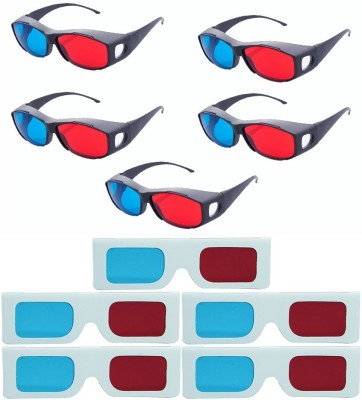 Hrinkar Updated Version 5 Plastic + 5 Paper Video Glasses