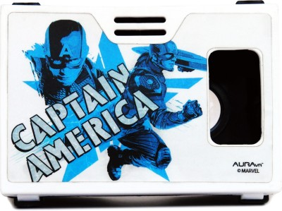 AuraVR Official Marvel ActionHero Captain America Virtual Reality (VR Headset) Video Glasses