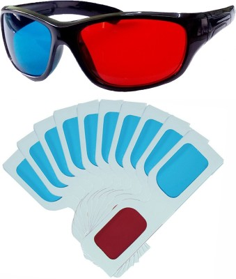 Hrinkar Updated Version 1 Plastic + 10 Paper Video Glasses