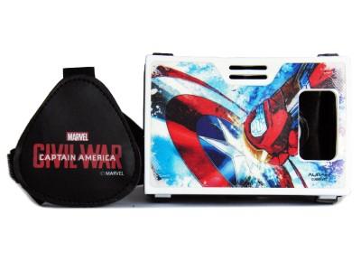 AuraVR Official Marvel Civil War Shield Vs Armor Virtual Reality Viewer (VR Headset) Video Glasses
