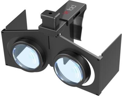 Smiledrive Mini Foldable Virtual Reality (VR) 3d, Portable Google Glass For All 4.0-6.0� Smart Phones Video Glasses(Black)