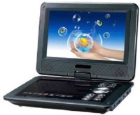 Portable 9.8 inch EVD/Video With 3D With TV Tuner Card Reader USB And Game Function DVD Player 9.8 inch DVD Player(Black)