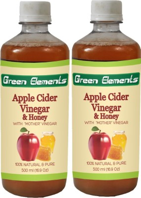 Green Elements Apple Cider & Honey (Raw, Unprocessed and Unrefined) with the Mother Vinegar 1000 ml