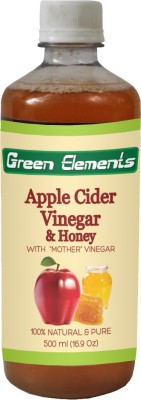 Green Elements Apple Cider & Honey (Raw, Unprocessed and Unrefined) with the Mother Vinegar 500 ml