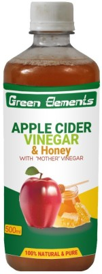 Green Elements Apple Cider & Honey (Raw, Unprocessed and Unrefined) with the Mother Vinegar 500 ml(Pack of 1)
