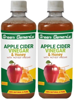 Green Elements Apple Cider & Honey with the Mother Vinegar 1000 ml(Pack of 2)