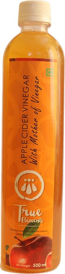 True Elements Apple Cider With Mother (Unfiltered & Unpasteurized) Vinegar 500 ml