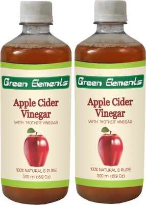 Green Elements Apple Cider (Raw, Unprocessed and Unrefined) with the Mother Vinegar 1000 ml