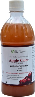 By Nature Apple Cider with The Mother and Honey Vinegar 500 ml(Pack of 1)