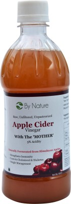 By Nature Apple Cider with The Mother Vinegar 500 ml(Pack of 1)