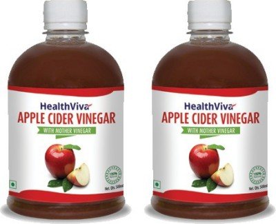 HealthViva Apple Cider Combo Pack Vinegar 500 ml(Pack of 2)