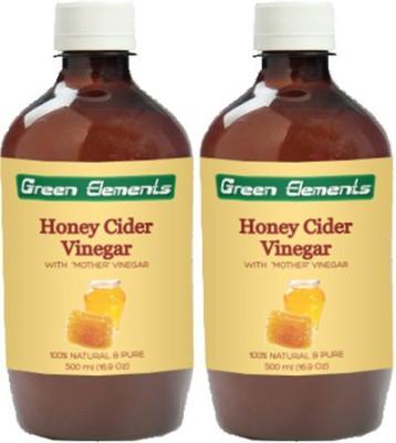 Green Elements Honey Cider (Raw, Unprocessed and Unrefined) with the Mother Vinegar 1000 ml