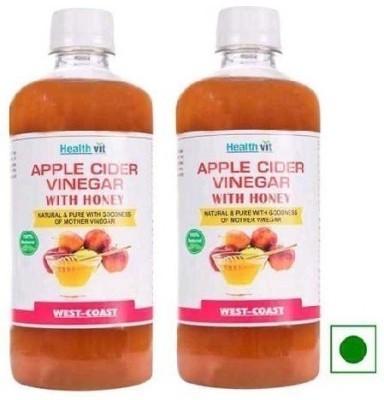 Healthvit Apple With Honey Pack of 2 Vinegar 500 ml