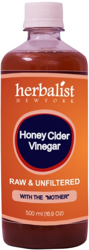 Herbalist's Honey Cider Vinegar Raw Unprocessed and Unrefined with Mother Vinegar, 500ml Vinegar 500 ml(Pack of 1)