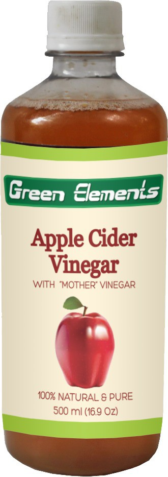 Green Elements Apple Cider (Raw, Unprocessed and Unrefined) with the Mother Vinegar 500 ml