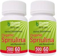 Bhumija Lifesciences Organic Spirulina Capsules 60's(2 No)