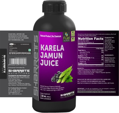 Sharrets Nutritions Karela Jamun Juice(946 ml)