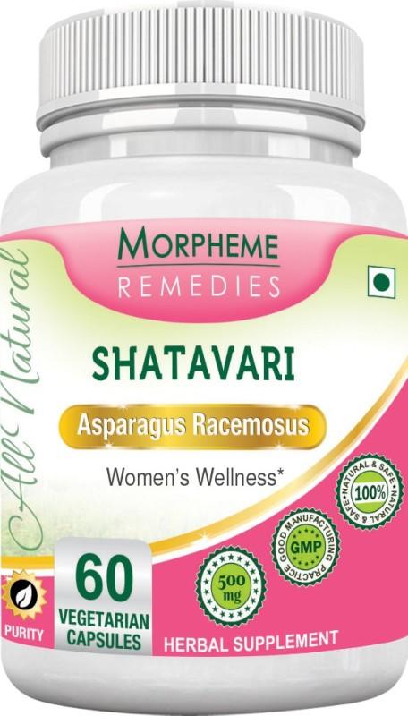 Morpheme Remedies Shatavari (Asparagus Racemous) 500mg Extract Multi Vitamin(60 No)